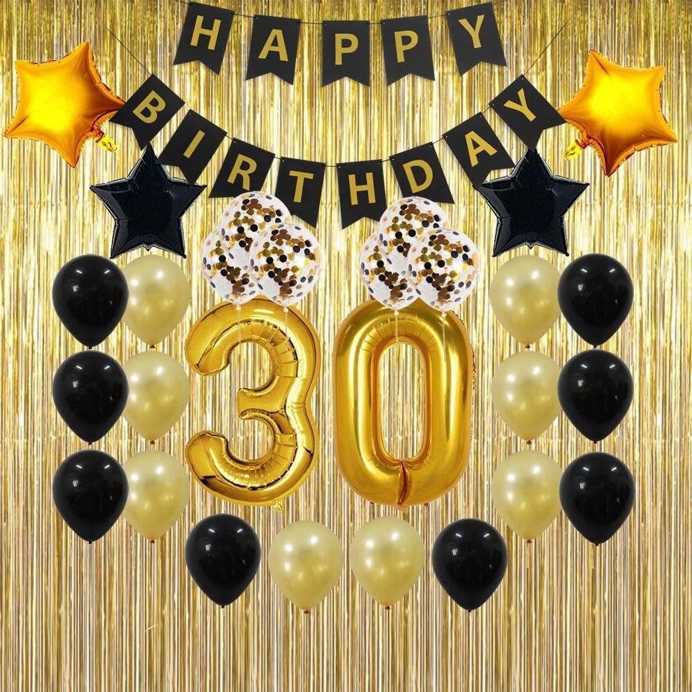 30 Cumpleanos Decoraciones Regalos Para Ella Hombres Hombre