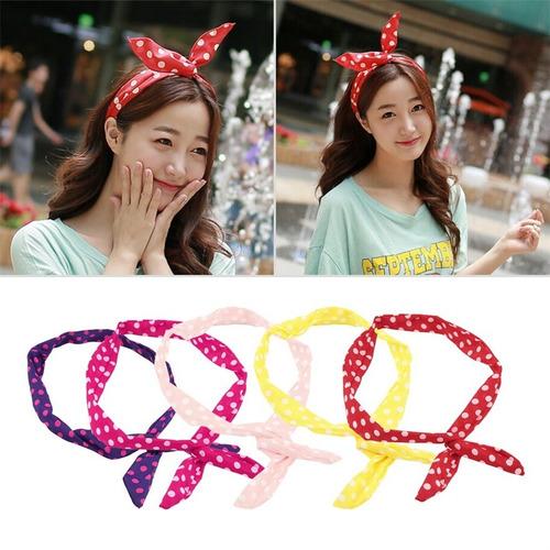 30 diademas con alambre tipo pin up moda japonesa / coreana