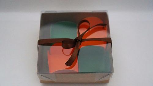 30 embalagens caixas kraft p/4 doces - brigadeiro - trufas