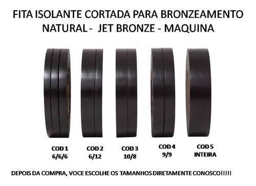 30 fita isolante cortada adesiva bronzeamento natural 20 mt