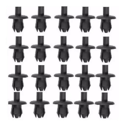 30 fixador para-choque celta prisma corsa  kit 30 peças