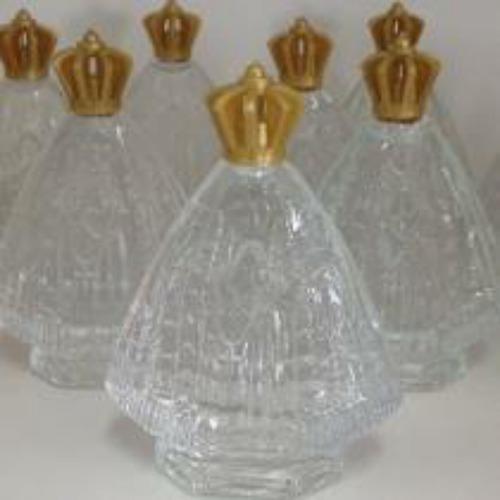 30 garrafinha nossa senhora aparecida de agua benta vidro