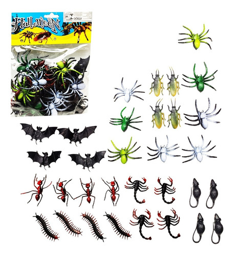 30 inseto borracha formiga barata rato aranha escorpiao mosq