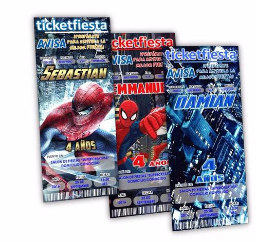 30 invitaciones impresas spiderman ¡en oferta!