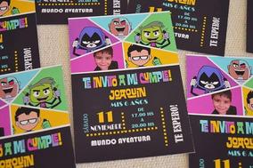 30 Invitaciones Jóvenes Titanes