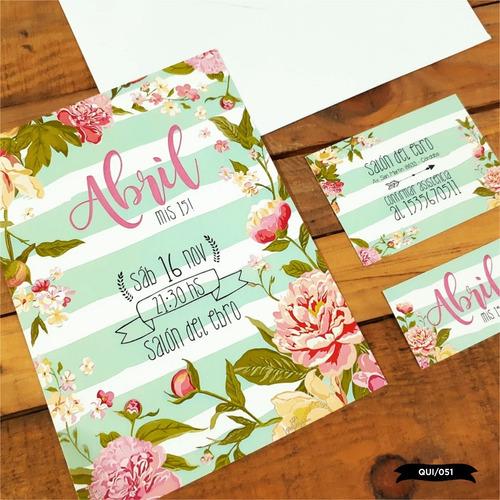 30 invitaciones tarjetas 15 años cumpleaños bodas c/ sobre!