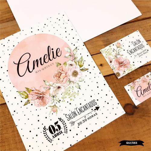30 invitaciones tarjetas 15 años cumpleaños bodas con sobre!