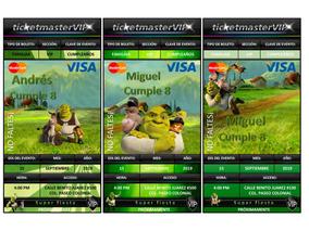 50 Invitaciones Tipo Ticketmaster Shrek V2