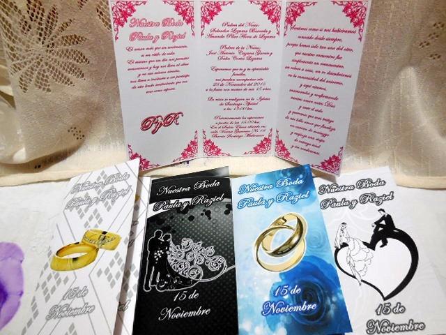 30 invitaciones triptico boleto boda 15 a u00f1os solo  6 pieza