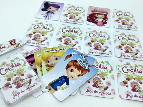 30 jogo da memória personalizado - lembrancinha moranguinho