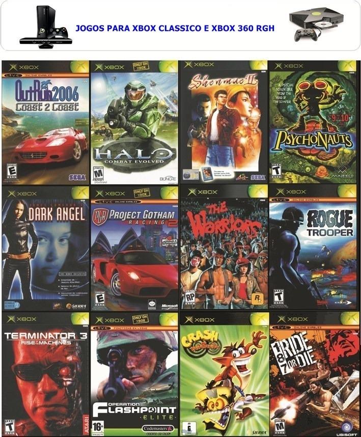 30 Jogos Para Xbox Classico Serve No Xbox 360 Rgh Hd Interno