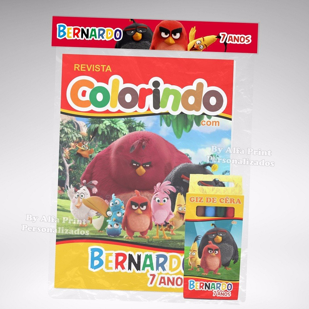 30 Kit Colorir Revistinha Lembranca Angry Birds O Filme R 140
