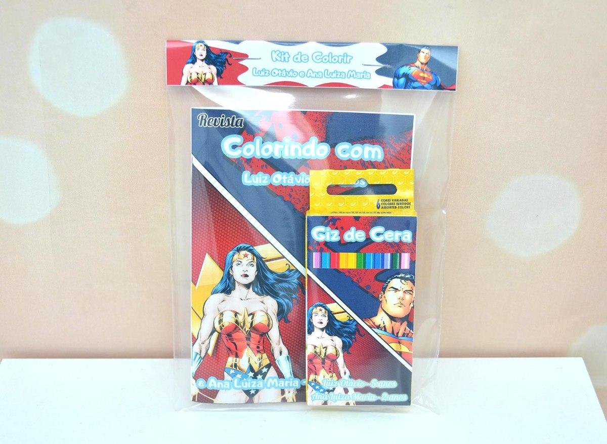 30 Kit Revistinha Livro Colorir E Giz De Cera Lembrancinha R 78