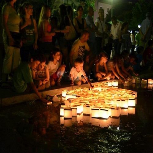 30 lamparas flotantes con vela,lamparas chinas boda, fiesta