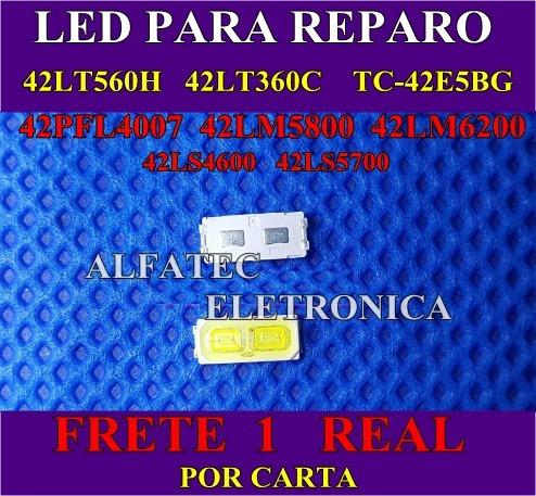 30 led p/reparo  tvs 42lt560h 42lt360c 42e5bg frete 1 real