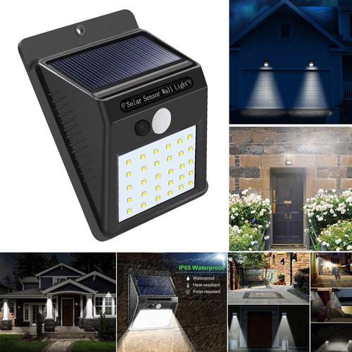 30 led solar powered wall light sensor de movimiento luces