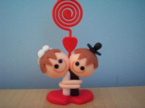 30 lembrança de casamento - noivos cabeça de bola-p. recados