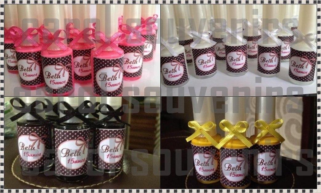 Adesivo De Parede Tijolo A Vista ~ 30 Lembrancinha Esmaltes Personalizado Com Adesivo E Lacinho R$ 90,00 em Mercado Livre