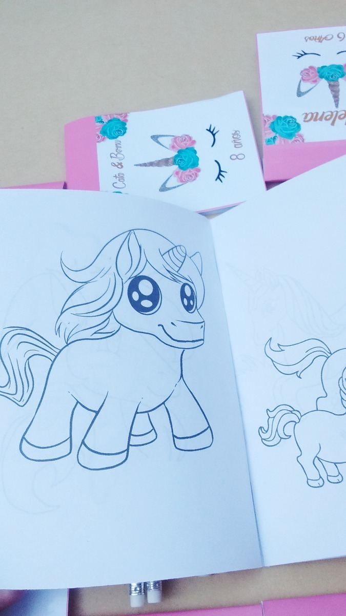 30 Libritos Para Colorear Personalizados Unicornio - $ 690,00 en ...