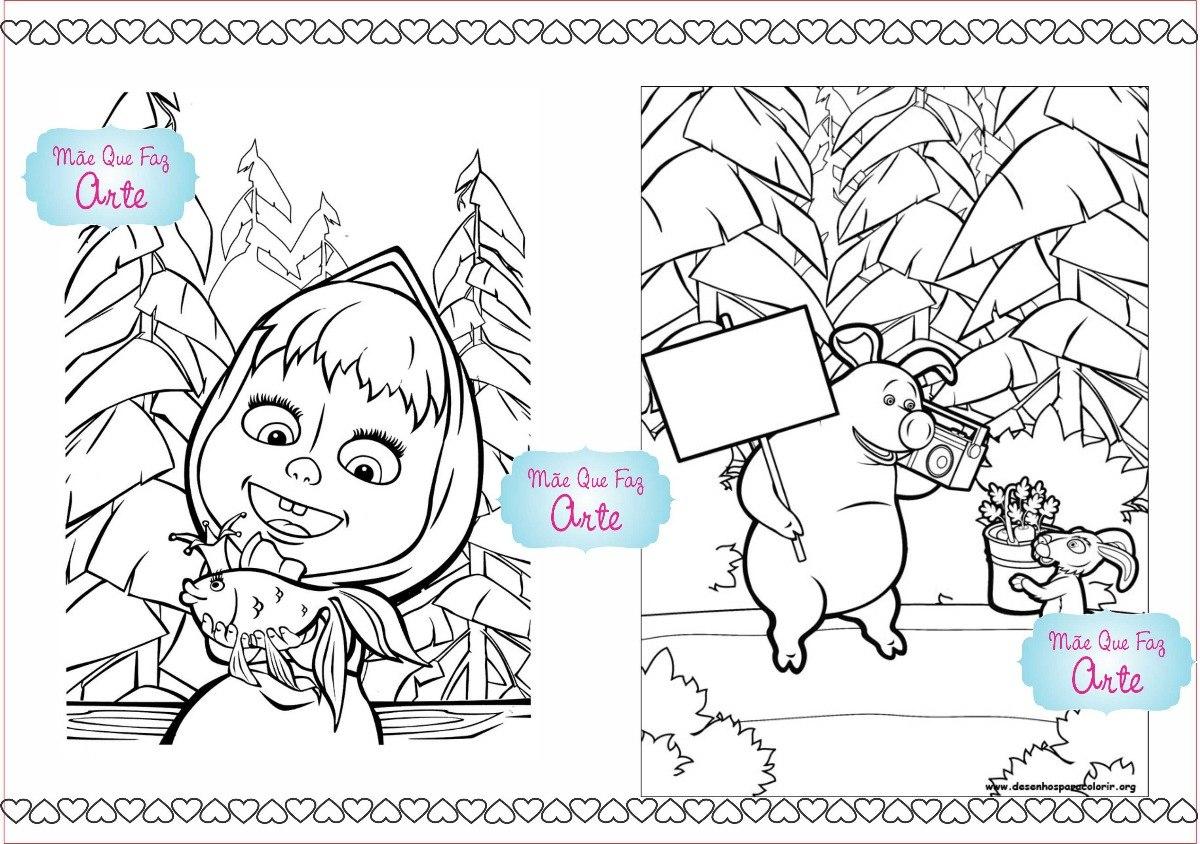 30 Livros De Colorir Masha E O Urso
