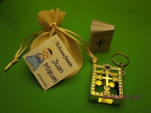 30 llaveros biblia en bolsita de terciopelo*tarjetitas*  vbf