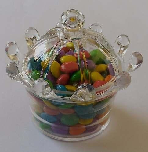 30 maça acrilica 30 mini coroa pote acrilico mesa de doce