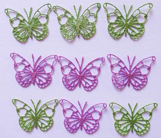30 Mariposas Goma Eva Brillantina Souvenir Babyshower 6 Cms - $ 330 ...