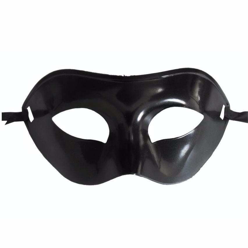 4ef7fa9f0ff5ef 30 Máscara Preta Masculina Festa Fantasia Desfile Carnaval