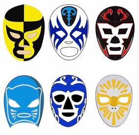 30 Mascaras Antifaces Tipo Luchadores Mexicanos