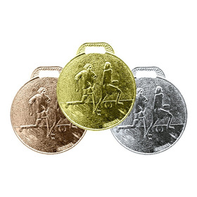 30 Medalhas 35mm Futebol - Ouro Prata Bronze - Aço Com Fita