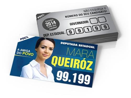 30 mil cartão eleições 2018 cartões de visita couchê 250g