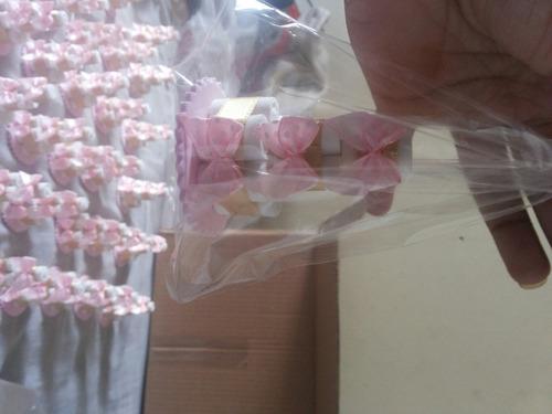 30 mini bolinho lembrancinha chá/maternidade em eva