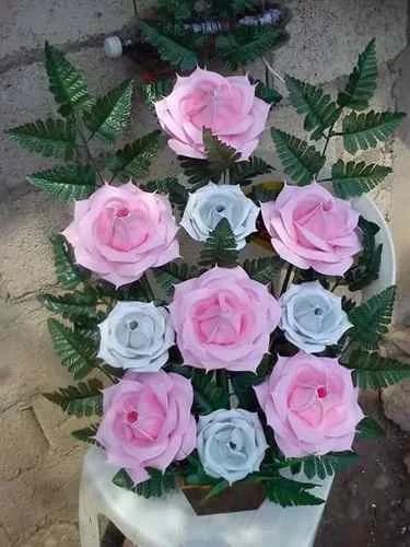 30 Moldes Tickas Rosas Lilis Orq Flores Goma Eva Tela Cuero