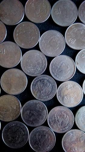 30 monedas antiguas de 1 peso morelos méxico 1984 - 1987