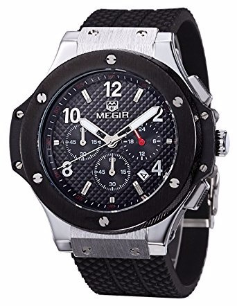 30% off  espectacular reloj megir cronometro modelo big bang
