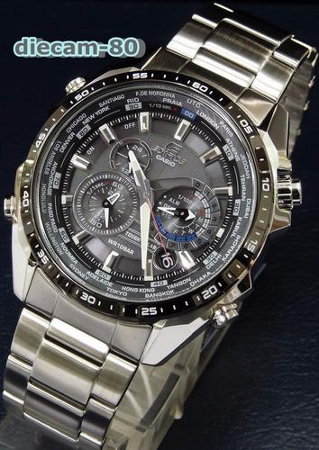 30% off reloj casio edifice eqs-500 db-1a1 cronómetro 1/100