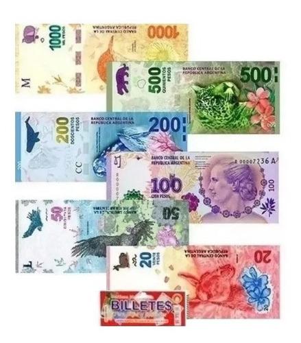 30 pack dinero juguete x80 billetes argentino didáctico 2019
