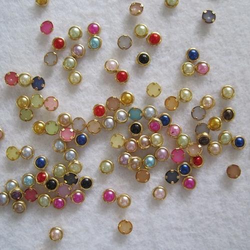 30 pacotes pedrarias strass caviar adesivos jóias unha -max