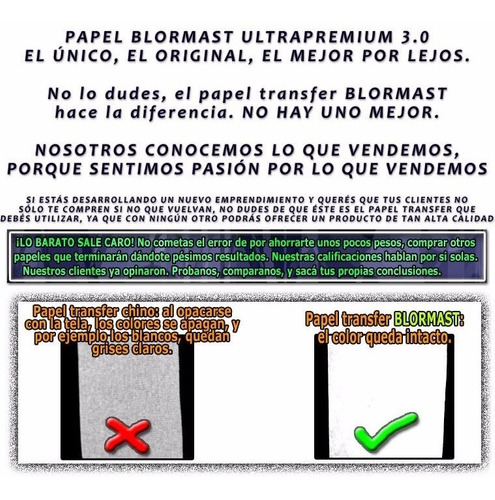 30 papel transfer blormast classic tela oscura a4 + termicos