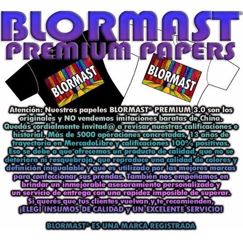 30 papel transfer blormast ropa tela clara estampado textil
