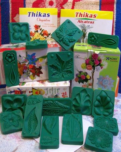 30 pares moldes para flores goma eva - frisadores 6 juegos