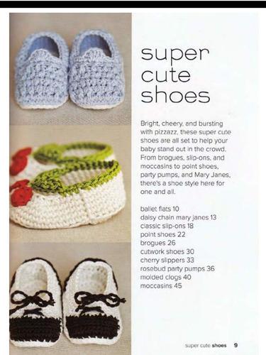 1e40f410dabbd 30 Patrones Zapatitos Botitas Bebe Crochet Ingles -   100