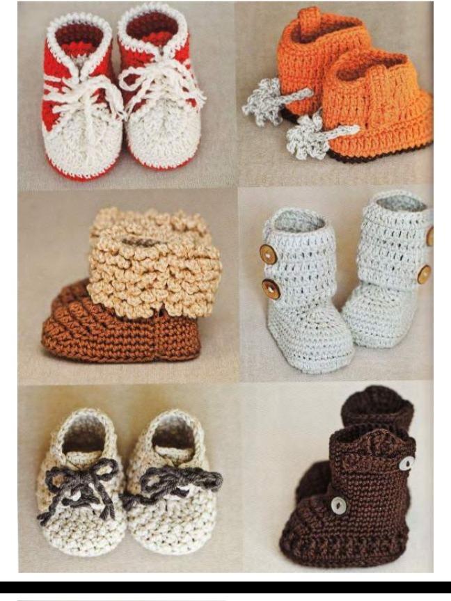 f7b2d95bb677b 30 patrones zapatitos botitas bebe crochet ingles. Cargando zoom.