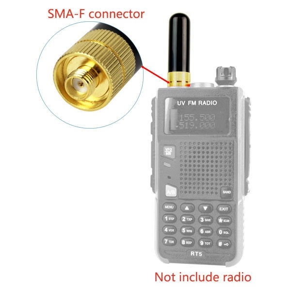 BF//KW US 30 pcs Short Antenna SMA-F Female For RadioS Retevis H777 RT1 RT5R etc