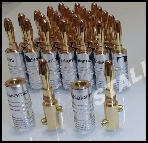 30 plug banana nakamichi + 30 protetor termoretrátil kit