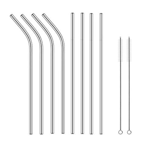 30 popotes y 30 cepillos acero inoxidable metal 21 o 26 cm