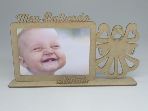 30 porta retrato lembrancinha batizado personalizado nome