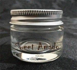 .30 potes vidro p/ brigadeiro doce colher 30ml - sweet amado