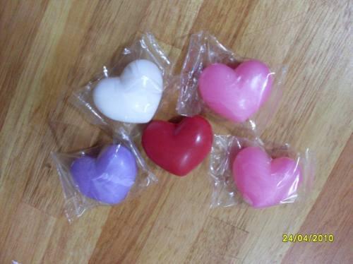 30 sabonetes de coração pra lembrancinha.