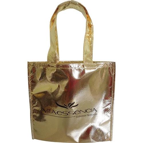 30 sacolas de tnt metalizado personalizadas *promoçâo*